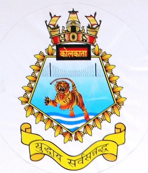 INS Kolkata crest