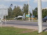 Il-14 Number 02 at Road M3 near Bus Station in Begoml 25 July 2014.jpg
