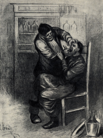 Surgery (short story) - 1905 illustration by A.Apsit