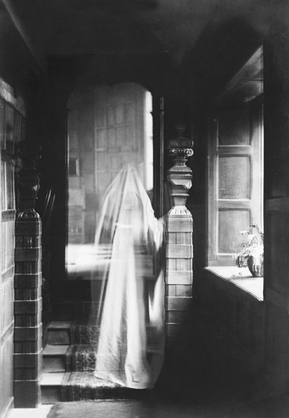 File:Image of a ghost, produced by double exposure in 1899.jpg