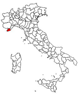 Location of Province of Imperia