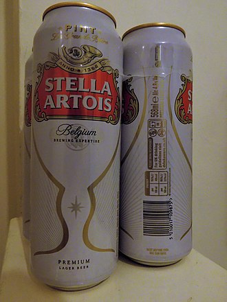 Pint - Imperial pint cans (568 ml) commonly found in British supermarkets