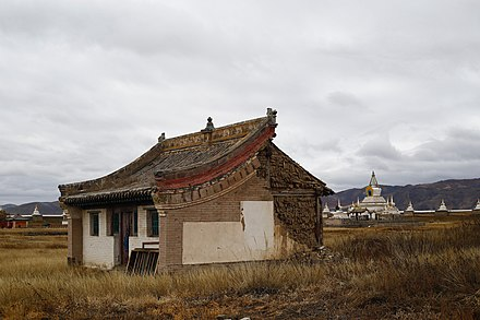 Ruins of a temple at the Erdene Zuu Monastery complex in Mongolia. Impermanence.jpg