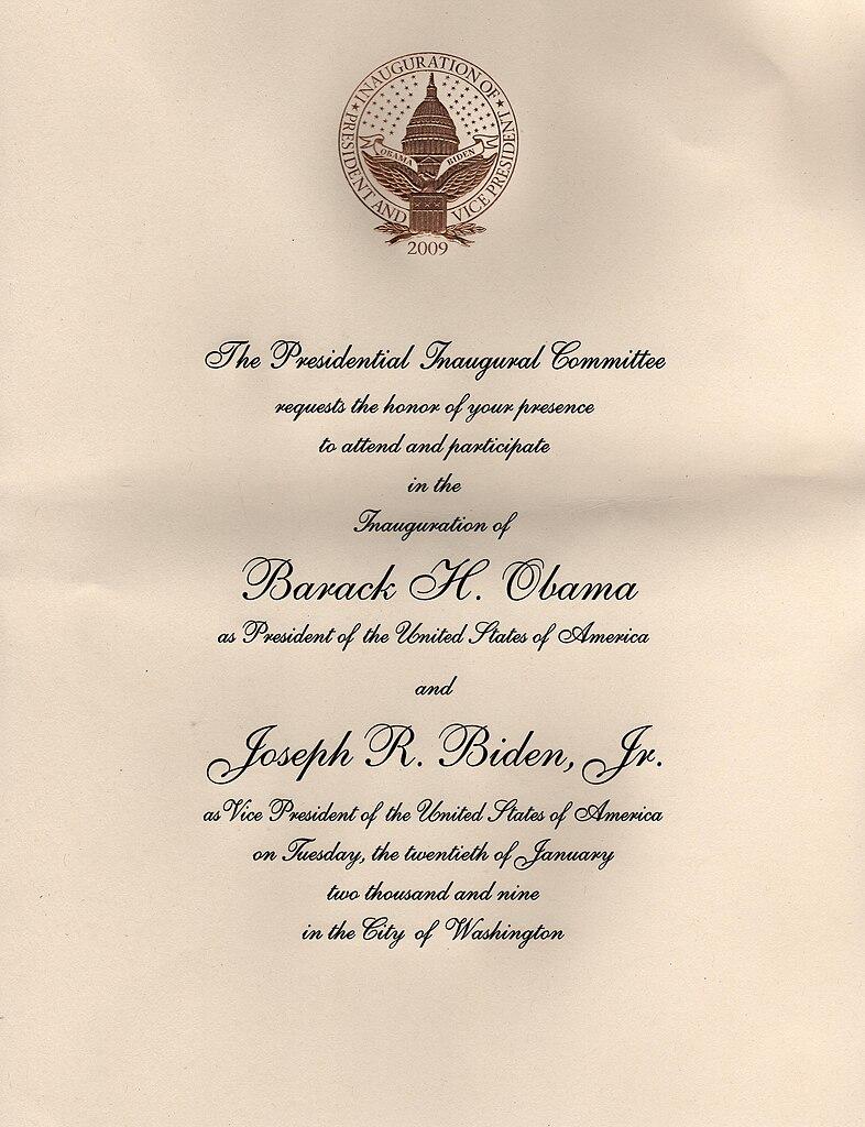 Lovely File:Inaugural Invitation 2009  Inauguration Invitation Card Sample