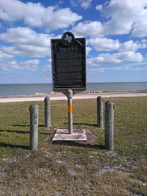 Indianola, Texas - State historical marker for Indianola