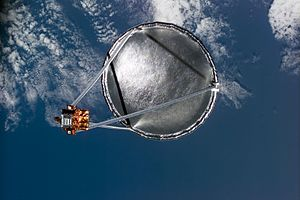 STS-77 - The deployed Inflatable Antenna Experiment