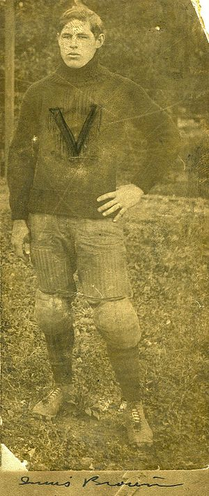1912 College Football All-Southern Team - Innis Brown as a player.