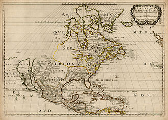 Nicolas Sanson - A 1650 map of Sanson's showing North America (with California depicted as an island)