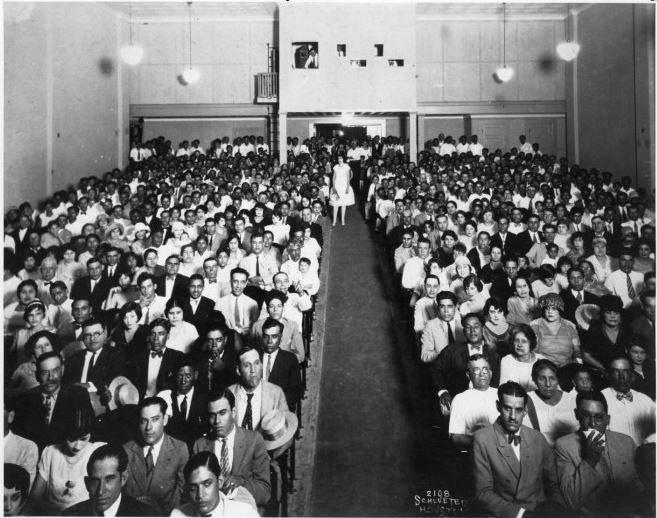 Interior Azteca Theater, Houston Texas, July 15, 1927