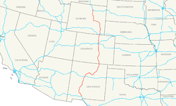 Route of Interstate 25
