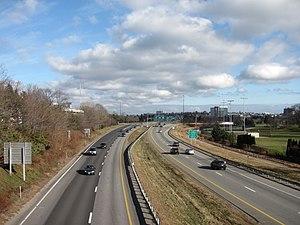 Interstate 295 (Maine) - Northbound in Portland, Maine