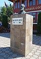 Ioan Axente Sever - bust în faţa primăriei comunei Axente Sever.jpg