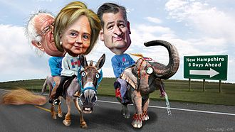 2016 Iowa Democratic caucuses - Iowa Caucus Winners – political cartoon by DonkeyHotey