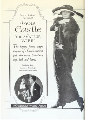 The Amateur Wife - Advertisement for the film