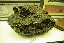 Pock-marked lump of iron ore
