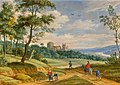 Isaac van Oosten - Landscape with the ruins of an abbey animated with figures.jpeg