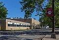 Island Trees High School with banner.jpg