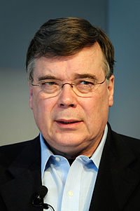 Islands stasminister Geir H. Haarde under presskonferens vid globaliseringsmotet i Riksgransen 2008-04-09.jpg