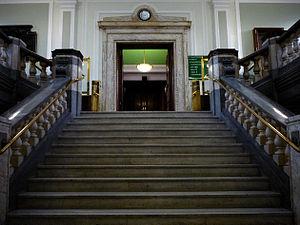 Westdeutsche Landesbank Girozentrale v Islington LBC - Image: Islington Town Hall Treppe