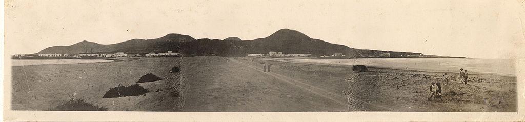 Istmo guanarteme panorama luis ojeda perez 1880 las palmas gran canaria