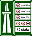 Italian traffic signs - old - inizio autostrada.svg