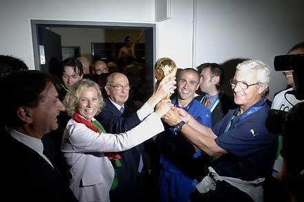 Italy 2006 FIFA World Cup Champion - Melandri, Napolitano, Cannavaro and Lippi