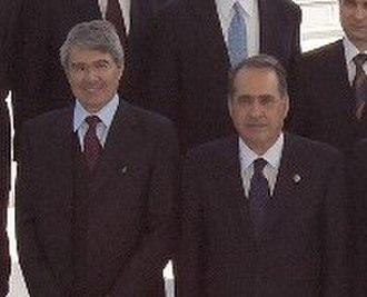 Giuseppe Pisanu - Roberto Castelli and Giuseppe Pisanu (May 11, 2004, Washington, D.C.)