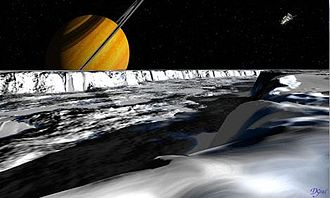 Ithaca Chasma - Artist's rendering of Ithaca Chasma