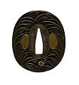 Iwamoto Konkan - Tsuba with Autumn Grasses and Insects - Walters 51382.jpg