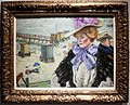 Izsák Perlmutter - Lady in a hat at the seaside.jpg