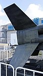 JASDF Nike-J missile booster fins right front view at Hamamatsu Air Base Publication Center November 24, 2014.jpg