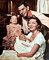 Jack Webb and Julie London with Stacey and Lisa, 1953.jpg