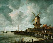 Рёйсдал «Мельница в Вейк-бей-Дюрстеде» 1670
