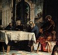 Jacopo Tintoretto - Christ Washing the Feet of His Disciples (detail) - WGA22430.jpg