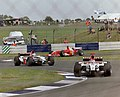 Jacques Villeneuve, Jenson Button and Michael Schumacher 2003 Silverstone.jpg