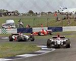 Jacques Villeneuve, Jenson Button and Michael Schumacher 2003 Silverstone.jpg