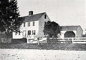 Hopkinton, New Hampshire - The town's first framed house built in 1745, as seen in 1901