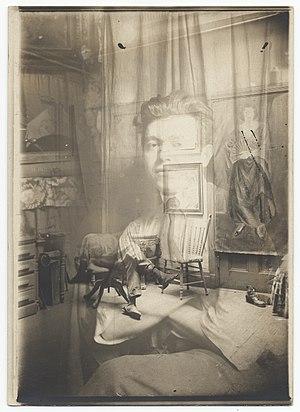 Jan Matulka - Jan Matulka in his studio c. 1920
