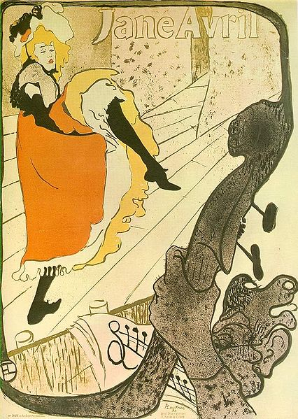 Toulouse-Lautrec - Jane Avril tanzend