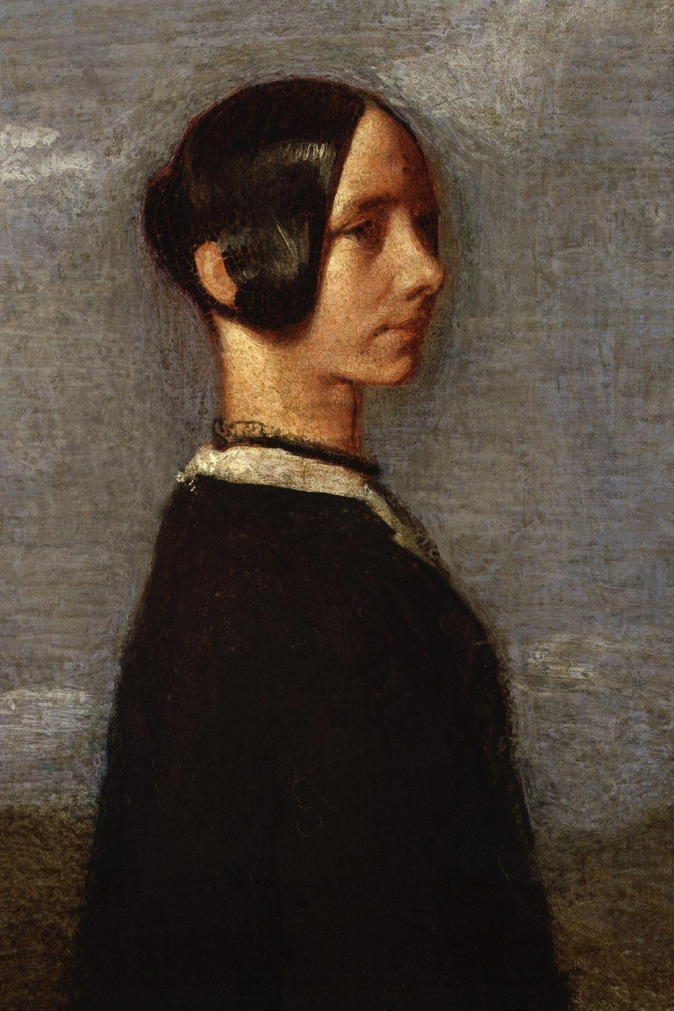 Jane Baillie Carlyle (née Welsh) by Samuel Laurence detail