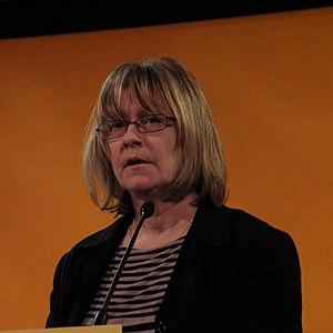 Jane Bonham Carter, Baroness Bonham-Carter of Yarnbury - Bonham-Carter speaking at Brighton during a Liberal Democrat Conference.