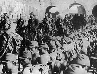Shanghai Expeditionary Army - Japanese troops enter Nanjing