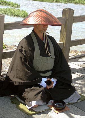 Buddhist monasticism - A mendicant monk in Kyoto, Japan