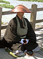 Japanese buddhist monk by Arashiyama cut.jpg
