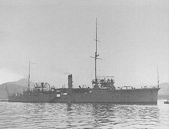 Japanese gunboat Saga - Image: Japanese gunboat SAGA in 1915