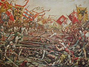 Battle of Sempach - 1889 painting by Karl Jauslin