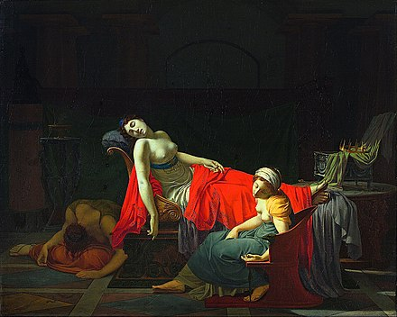 The Death of Cleopatra (1796-1797), by Jean-Baptiste Regnault Jean-Baptiste Regnault - Death of Cleopatra - Google Art Project.jpg