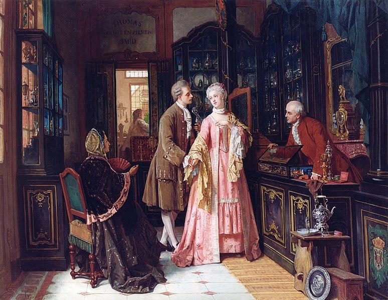 File:Jean Carolus, Choosing the Ring, oil on canvas, 83 x 106.5 cm.jpg