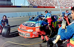 "Ray Evernham - The DuPont ""Rainbow Warriors"" crew in 1997."