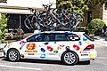 Jelly Belly p b Maxxis team car in Modesto before the start of Stage 2 (34906968441).jpg